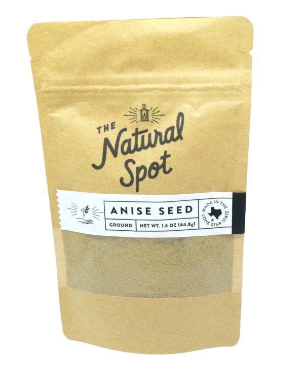 Bag of ground Anise Seed from the Natural Spot