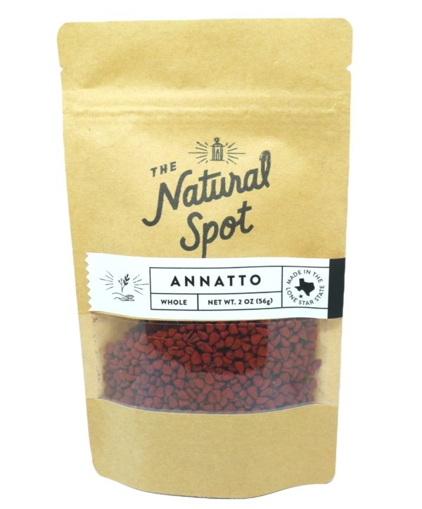 Bag of whole Annatto from the Natural Spot