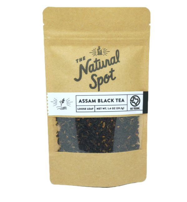 Bag of Assam Black Tea from the Natural Spot