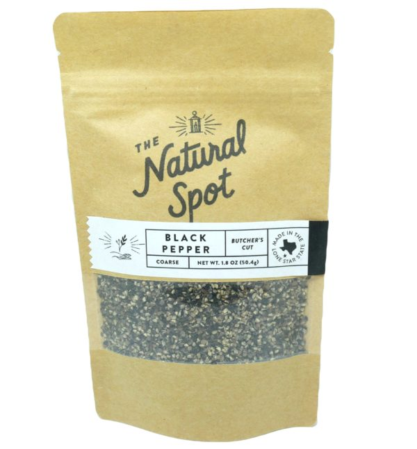 Bag of Butcher's Cut Black Pepper from the Natural Spot