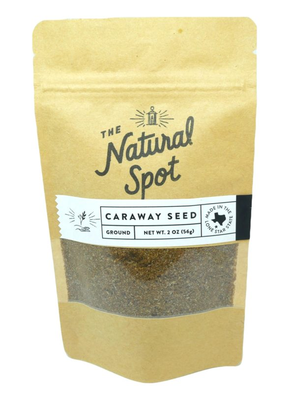 Bag of ground Caraway Seed from the Natural Spot