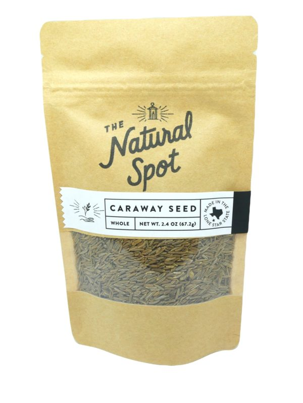 Bag of whole Caraway Seed from the Natural Spot