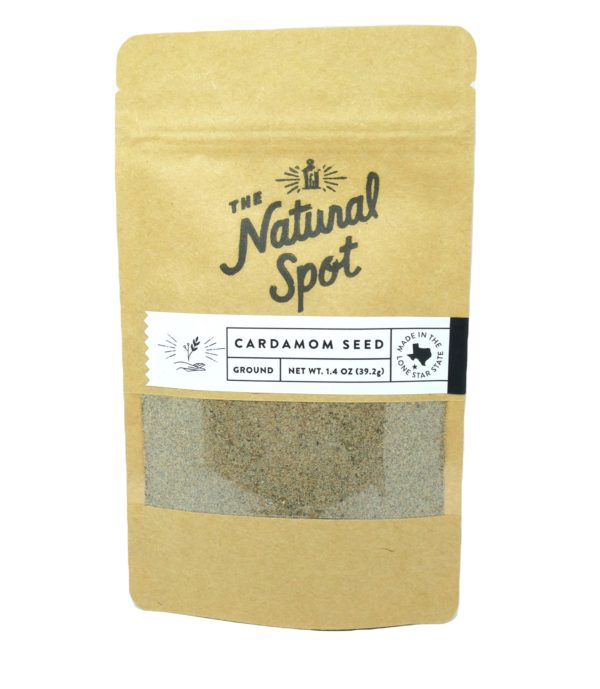 Bag of ground Cardamom Seed from the Natural Spot