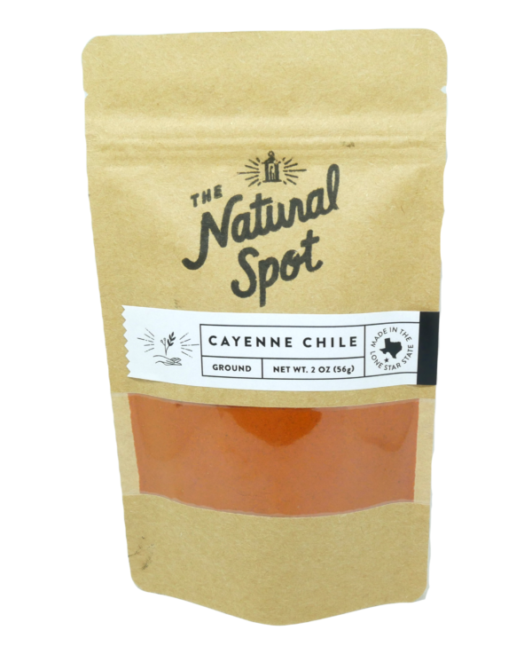Small bag of Ground Cayenne Pepper from the Natural Spot
