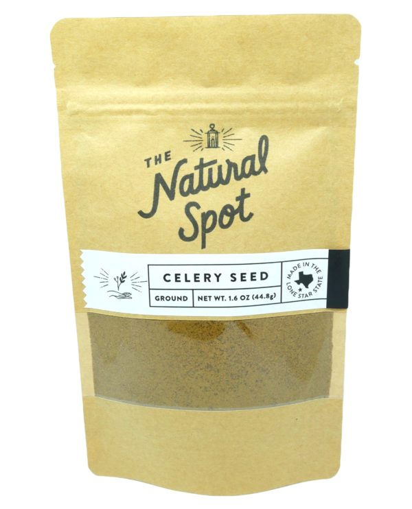 Bag of ground Celery Seed from the Natural Spot