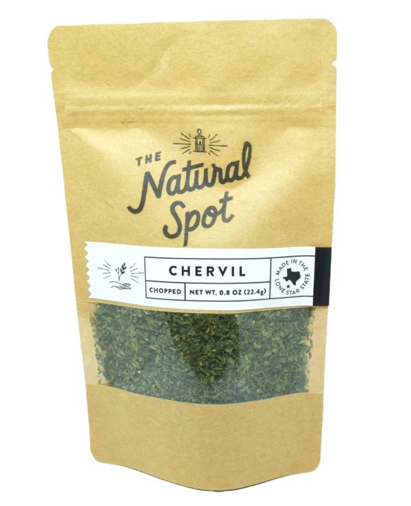 Bag of chopped Chervil from the Natural Spot