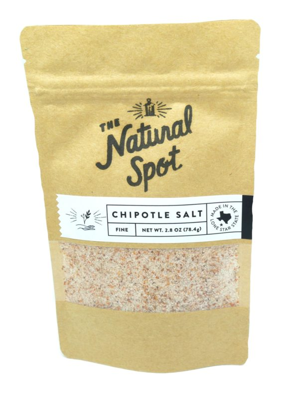 Bag of fine Chipotle Salt from the Natural Spot
