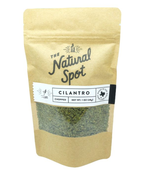 Bag of dried Cilantro from the Natural Spot
