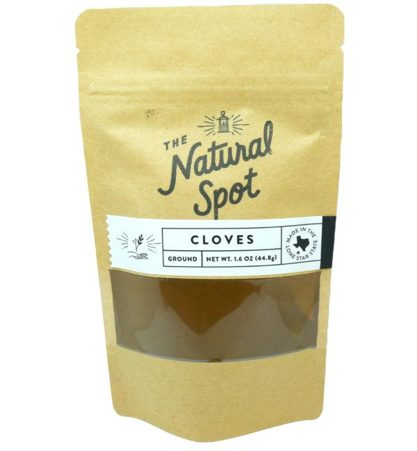 Bag of ground Cloves from the Natural Spot