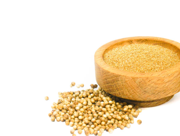 Whole and ground Coriander Seed from the Natural Spot