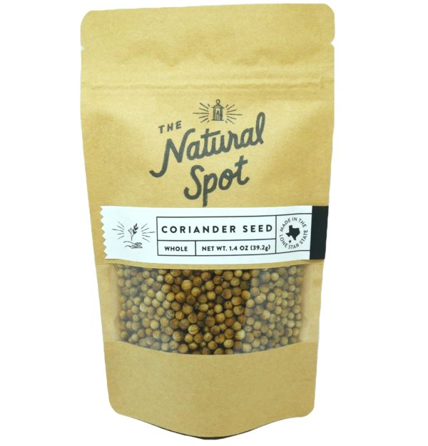 Bag of whole Coriander Seed from the Natural Spot