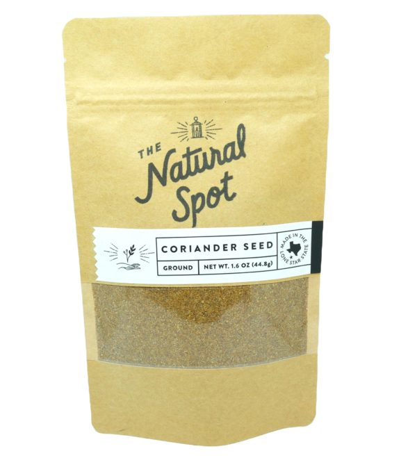 Bag of ground Coriander Seed from the Natural Spot