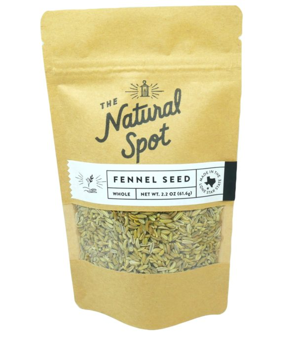 Bag of whole Fennel Seed from the Natural Spot
