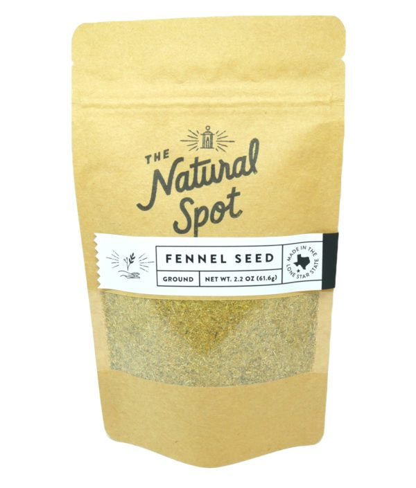 Bag of ground Fennel Seed from the Natural Spot