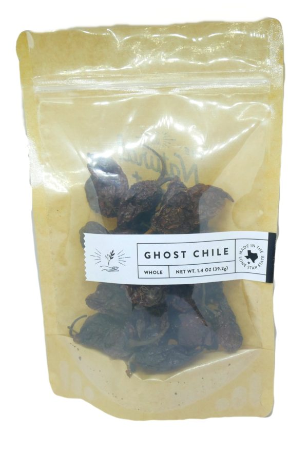 Whole Dried Ghost Chile peppers from The Natural Spot