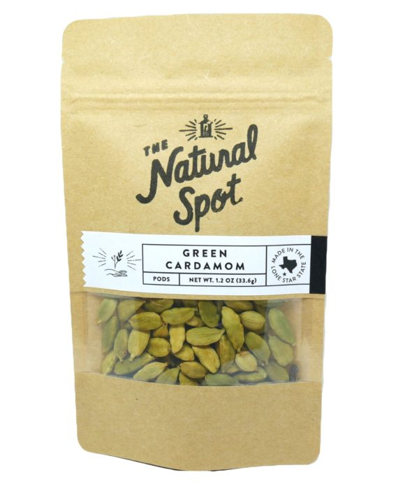 Bag of Green Cardamom pods from the Natural Spot