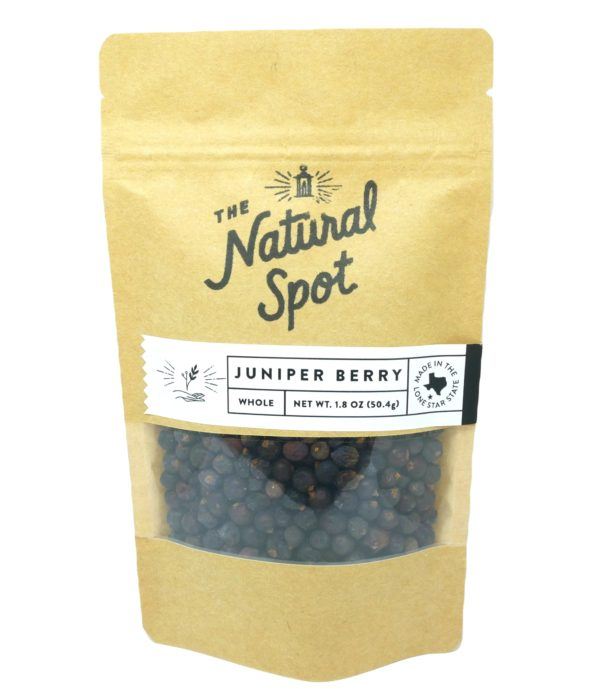 Bag of whole Juniper Berry from the Natural Spot