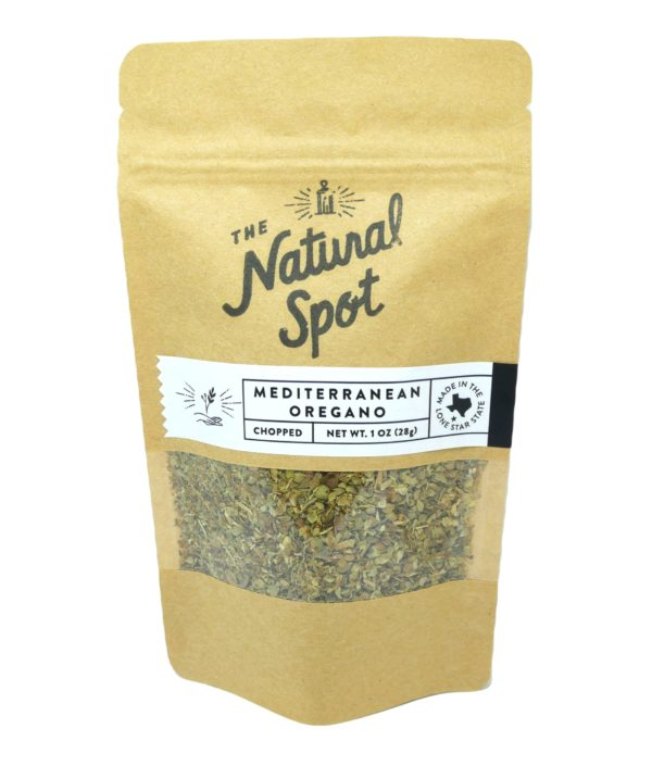 Bag of chopped Mediterranean Oregano from the Natural Spot