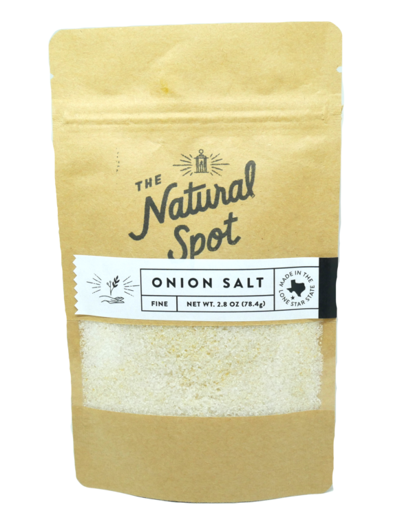 Bag of Onion Salt from the Natural Spot