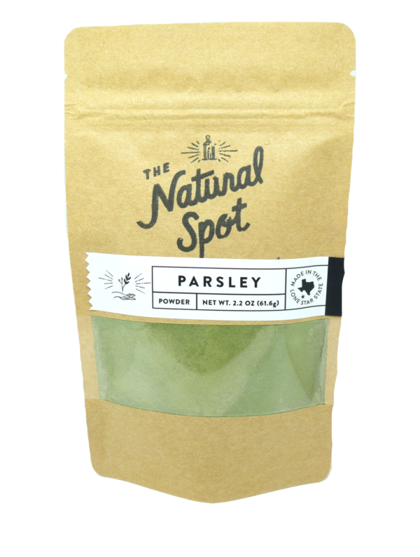 bag of Parsley powder from the Natural Spot