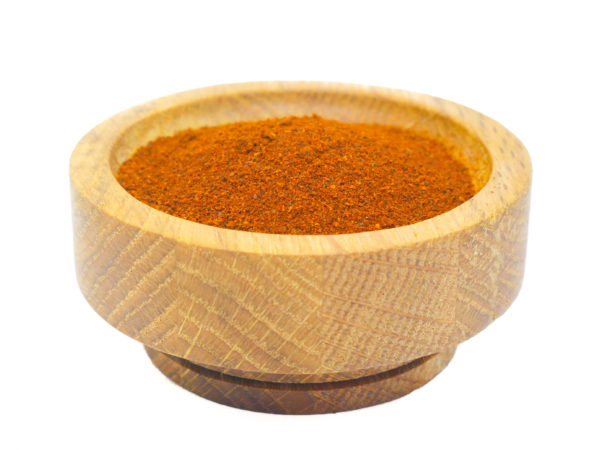 Ground Pasilla Chile Pepper flakes from the Natural Spot