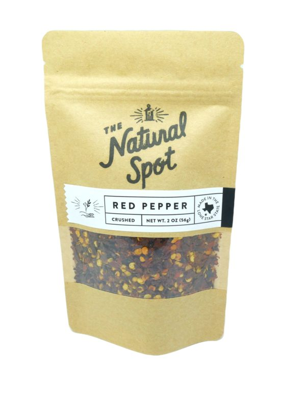 Bag of crushed Red Pepper from the Natural Spot