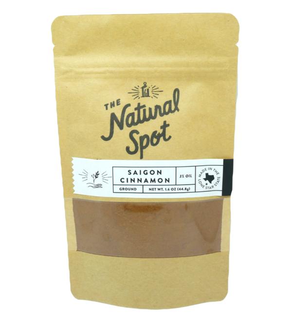 Bag of ground Saigon Cinnamon from the Natural Spot