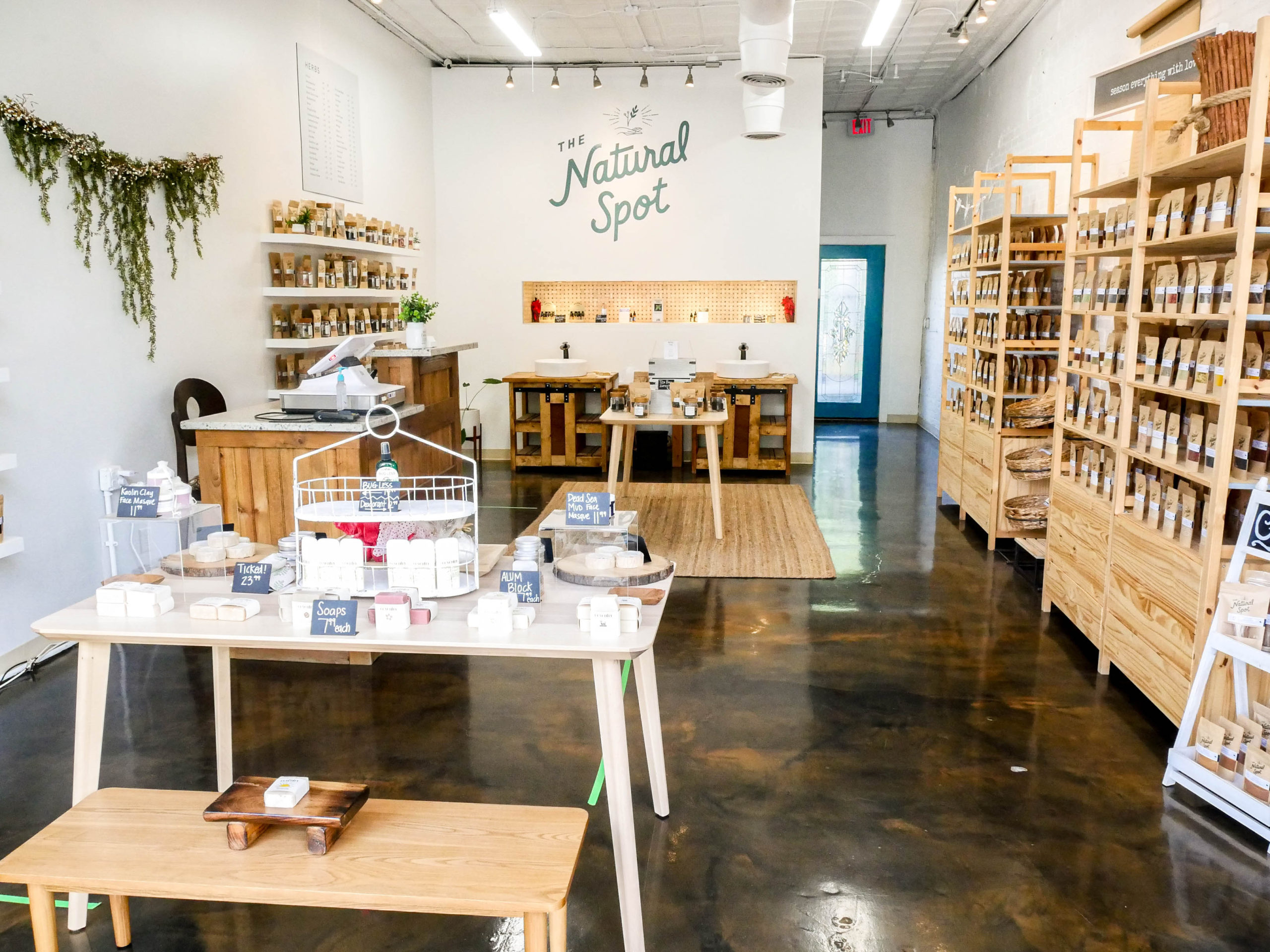 The Natural Spot store interior